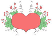 Heart and flowers — Stock Vector