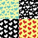 Valentine`s Day. Patterns — Stock Vector