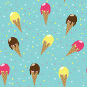 Ice-cream seamless — Stock vektor