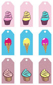 Dessert labels — Stock Vector