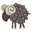 Stock Vector: Sheep