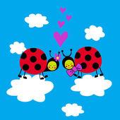 Ladybugs — Stock Vector