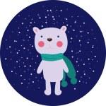White bear — Stock Vector