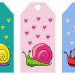 Stock Vector: Snail tags