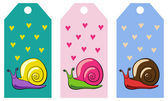 Snail tags — Stock Vector