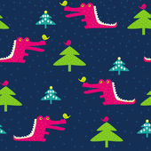 Animals and Christmas — Stock Vector
