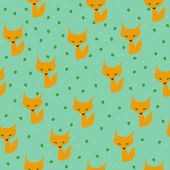 Fox pattern — Stock Vector