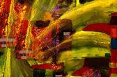 Abstraktní akryl na plátně — Stock fotografie