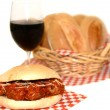 Meatball Sandwich — Stock Photo