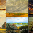 Six Landscape Paintings — Stock Photo