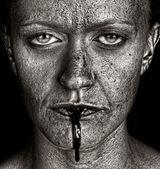 Mulher perturbador — Foto Stock
