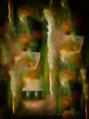 Con aerógrafo en cristal — Foto de Stock