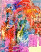 Técnica mixta sobre lienzo — Foto de Stock