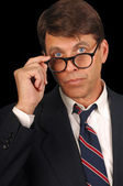 Lawyer with a question — Stock Photo