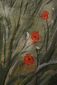 Three Poppies — Stock Photo