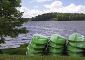Stacked boats — Stock Photo