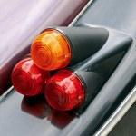 Car tail-lights — Stock Photo