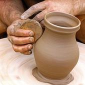 Fabrication de poterie d'argile — Photo