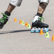 Stock Photo: Teenager rollerblading