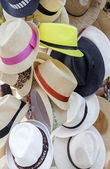 Summer hats for sell — Stock fotografie