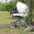 Stock Photo: Modern white pram