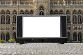 Outdoor cinema — Stock Photo