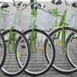 Bicycles in a row — Foto Stock