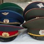 Soviet army caps — Stock Photo #39934043