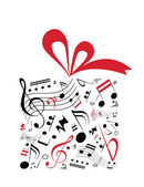 Music gift — Stock Vector