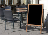 Empty menu board — Stock Photo