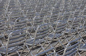 Metal chair rows — Stock Photo