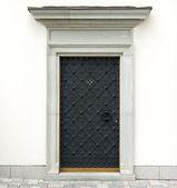 Metal decorative doors — Stock Photo