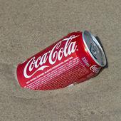 CocaCola on the beach — Stock Photo
