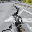 Christchurch Earthquake - Cracks in Avonside — Stock Photo