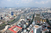 Ho Chi Minh City Panorama, Saigon Vietnam — Stock Photo