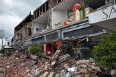 Christchurch Earthquake - Merivale Shops In Ruins — Stock Photo