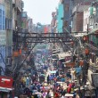 Chandni Chowk Market in New Delhi, India - Stock Photo