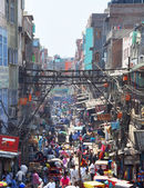 Chandni chowk markt in new delhi, india — Stockfoto