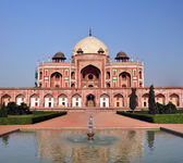 Humayan's Tomb Vertical Panorama, Delhi India — Stock Photo