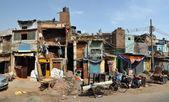 Old Delhi Shops & Houses Panorama, India — Stock Photo