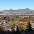 Hanmer Springs Town and Mountain Panorama, Canterbury New Zealan — Stok fotoğraf #13124593