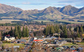 Hanmer township in the mountains of Canterbury, New Zealand — Stock Photo