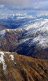 The Crown Range of mountains in Otago, New Zealand — Stock Photo