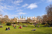 Anglia - brighton pavilion & turystów — Zdjęcie stockowe