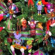 Christmas Tree Decorated with Children — Stock Photo