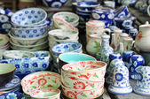 Pottery stall at the Hoi An Market, Vietnam. — Stock Photo