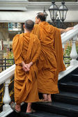 Buddhist Monks & Songkran festival in Bangkok, Thailand — Stock Photo