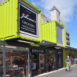 Christchurch reconstruction - Johnsons Grocery Store Reopens After Earthquake. - Stock Photo