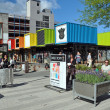 Christchurch Container Shopping Precinct Opened. — Foto de Stock