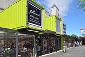 Christchurch reconstruction - Johnsons Grocery Store Reopens After Earthquake. — Stock Photo